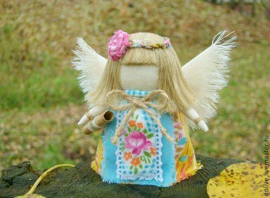 """Народные куклы ручной работы. Ярмарка Мастеров - ручная работа. Купить куколка Ангел """"Послание"""". Handmade. Желтый, ангелок, оберег"""