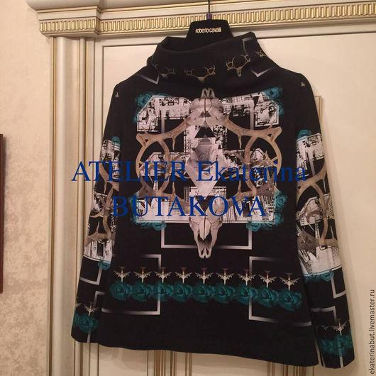 Кофты и свитера ручной работы. Ярмарка Мастеров - ручная работа. Купить Джемпер.. Handmade. Комбинированный, рисунок, стильный, модный, джемпер
