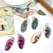 Украшения handmade. Livemaster - original item Dragonfly Wings Earrings Rainbow Shimmer Glitter Holography Silver. Handmade.