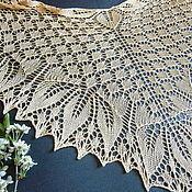 Аксессуары handmade. Livemaster - original item Shawl Golden leaves openwork knitting. Handmade.