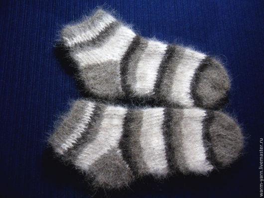 Носки, Чулки ручной работы. Ярмарка Мастеров - ручная работа. Купить Носочки короткие подростковые из собачьей шерсти. Handmade.