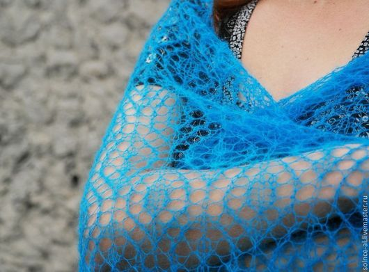 """Шали, палантины ручной работы. Ярмарка Мастеров - ручная работа. Купить Шаль """"Ажурные сети"""". Handmade. Шаль, вязание спицами"""
