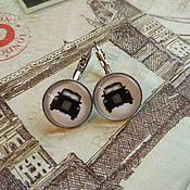 Украшения handmade. Livemaster - original item Earrings Taxi (earrings). Handmade.