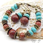 Украшения handmade. Livemaster - original item Bracelet female. Bracelet with turquoise. Bracelet with Jasper.. Handmade.
