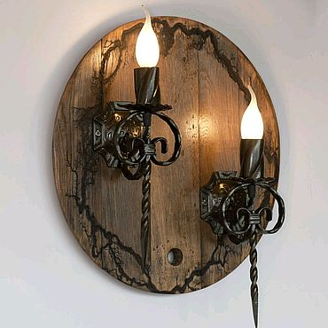 Освещение ручной работы. Ярмарка Мастеров - ручная работа Настенный светильник  Салун. Handmade.