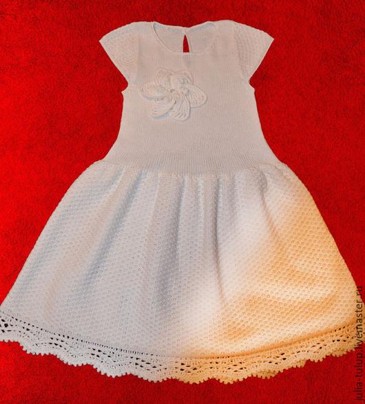 """Одежда для девочек, ручной работы. Ярмарка Мастеров - ручная работа. Купить Платье """"Нежность"""". Handmade. Белый, платье для девочки"""