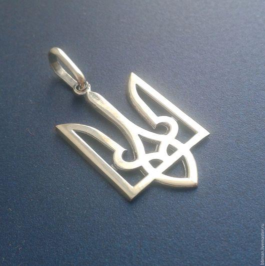Кулон `Герб Украины `Трезубец` | Герб України , серебряный