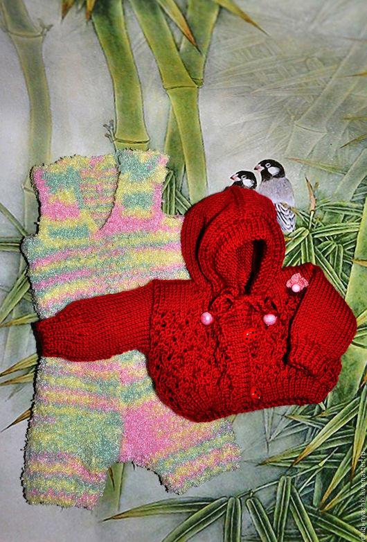 Одежда для кукол ручной работы. Ярмарка Мастеров - ручная работа. Купить Комплект одежды для мишки тедди. Handmade. Красный