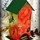 """Кухня ручной работы. Ярмарка Мастеров - ручная работа. Купить Чайный домик """"Маковая акварель"""". Handmade. Разноцветный, чайная коробка"""