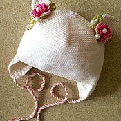 """Работы для детей, ручной работы. Ярмарка Мастеров - ручная работа Шапка вязаная для девочки """"Котёнок"""". Handmade."""