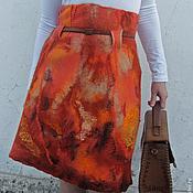 """Одежда ручной работы. Ярмарка Мастеров - ручная работа Валяная юбка """"Рыжий зверь..."""". Handmade."""