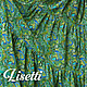 Юбки ручной работы. Юбка ярусная Изумрудная россыпь. Лиза (lisetti). Интернет-магазин Ярмарка Мастеров. Купить юбку из хлопка