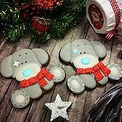 """Сувениры и подарки ручной работы. Ярмарка Мастеров - ручная работа Пряник """"Щенок Тедди  """" символ нового года. Handmade."""