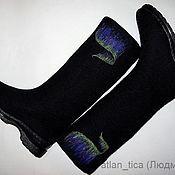 """Обувь ручной работы. Ярмарка Мастеров - ручная работа Сапоги """"Северное сияние"""". Handmade."""