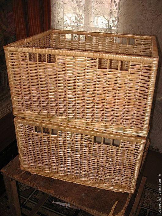 Корзины, коробы ручной работы. Ярмарка Мастеров - ручная работа. Купить Короб плетеный из лозы,для хранения(корзина,лоток,ящик). Handmade.
