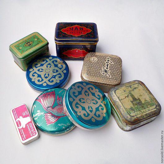 коробка жестяная, старая коробка, жестяная банка, винтаж, СССР, ретро, чайная коробка, жесть