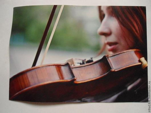 Фотокартины ручной работы. Ярмарка Мастеров - ручная работа. Купить Фотокартина Под музыку Вивальди. Handmade. Коричневый, картина, музыкант