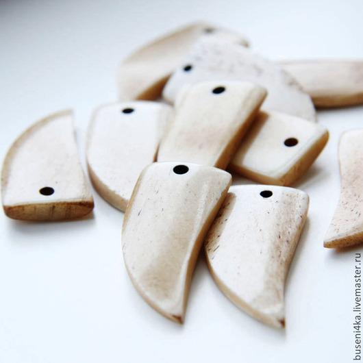 Для украшений ручной работы. Ярмарка Мастеров - ручная работа. Купить Подвеска Клык из кости 20х42мм (1шт). Handmade.