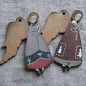 Подарки к праздникам ручной работы. Ярмарка Мастеров - ручная работа Ангелы в бордовых тонах. Handmade.