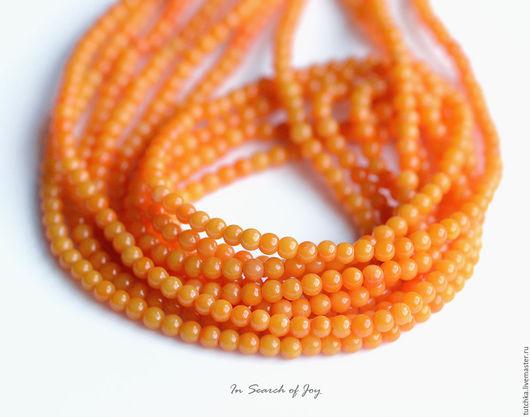 Для украшений ручной работы. Ярмарка Мастеров - ручная работа. Купить Апельсин Натуральный бамбуковый коралл гладкий шар 2,5-2,8мм. Handmade.