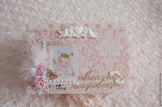 Подарки для новорожденных, ручной работы. Ярмарка Мастеров - ручная работа. Купить Мамина сокровищница для принцессы. Handmade. Бледно-розовый, цветы