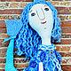 Коллекционные куклы ручной работы. Ярмарка Мастеров - ручная работа. Купить Гуппяшка. Handmade. Голубой, волшебство