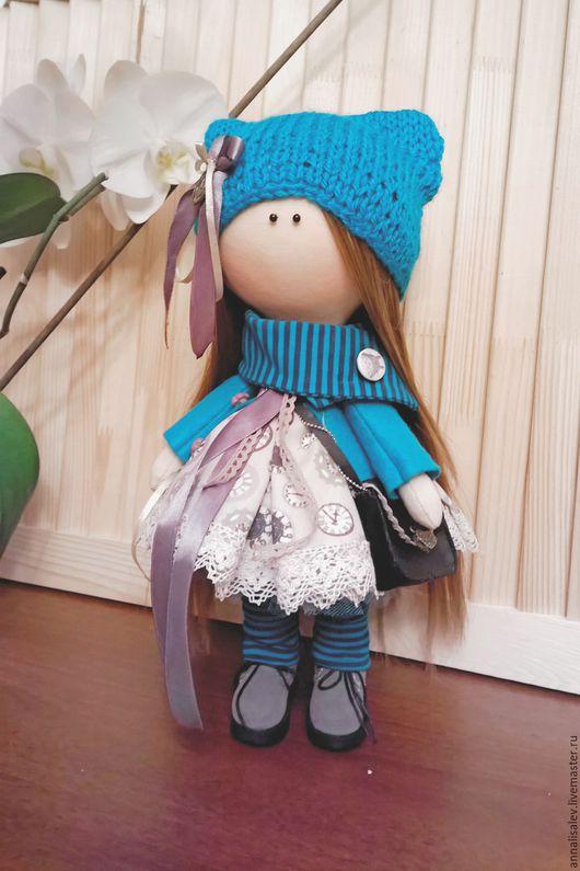 Куклы тыквоголовки ручной работы. Ярмарка Мастеров - ручная работа. Купить Кукла Нелли интерьерная текстильная. Handmade.