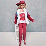 Одежда для кукол ручной работы. Ярмарка Мастеров - ручная работа Куртка для Барби с нашивкой. Handmade.