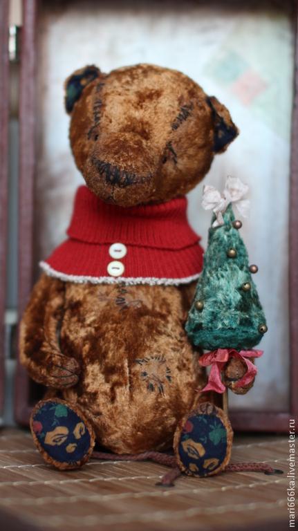 Мишки Тедди ручной работы. Ярмарка Мастеров - ручная работа. Купить Рождественский мишка. Handmade. Тедди, мишки тедди