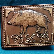 "Сумки и аксессуары handmade. Livemaster - original item Leather wallet ""BOAR"". Handmade."