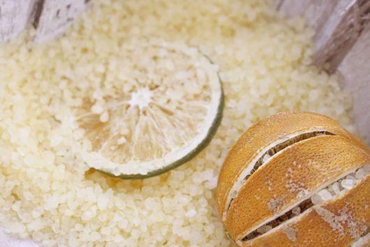 """Соль для ванны ручной работы. Ярмарка Мастеров - ручная работа. Купить Соль для ванны """"Апельсин и иланг"""". Handmade. Желтый, отдых"""