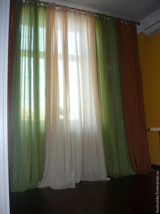 Текстиль, ковры ручной работы. Ярмарка Мастеров - ручная работа. Купить Краски осени. Handmade. Шторы, коричневый