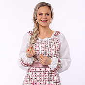 Одежда handmade. Livemaster - original item Blouse linen Makosh on white. Handmade.