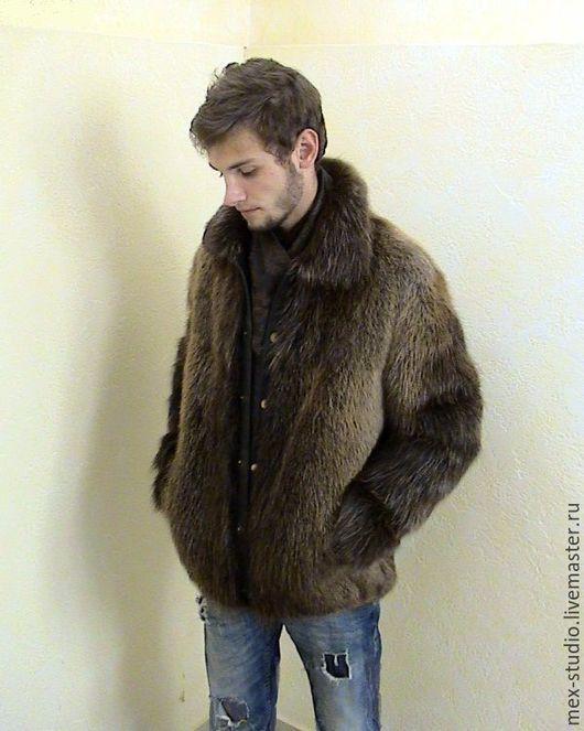 Верхняя одежда ручной работы. Ярмарка Мастеров - ручная работа. Купить Куртка мужская из бобра. Handmade. Бобр, меховая одежда