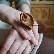 Украшения ручной работы. Ярмарка Мастеров - ручная работа Кольцо деревянное Капля. Handmade.