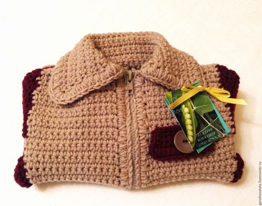 Кофты и свитера ручной работы. Ярмарка Мастеров - ручная работа. Купить Жакет для малыша 6-9 месяцев.. Handmade. Жакет
