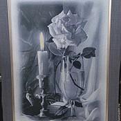 Картины и панно ручной работы. Ярмарка Мастеров - ручная работа Вышитая картина Натюрморт (ручная вышивка крестиком) разм 37см х 50см. Handmade.