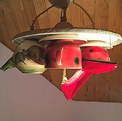 Для дома и интерьера handmade. Livemaster - original item Ceramic chandelier with four shades of