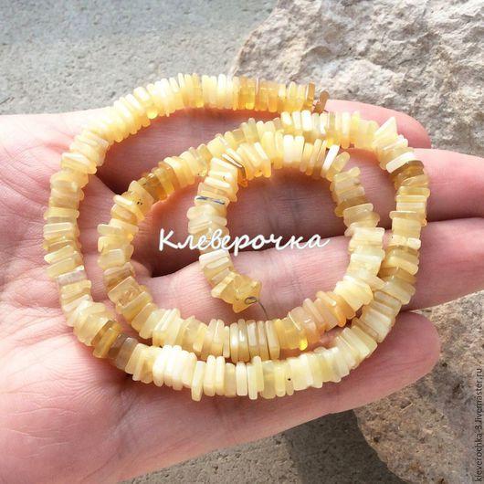 Для украшений ручной работы. Ярмарка Мастеров - ручная работа. Купить ..Опал желтый чипсы рондель бусины камни для украшений. Handmade.