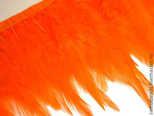 Другие виды рукоделия ручной работы. Ярмарка Мастеров - ручная работа. Купить Перья бахрома, оранж. Handmade. Перья