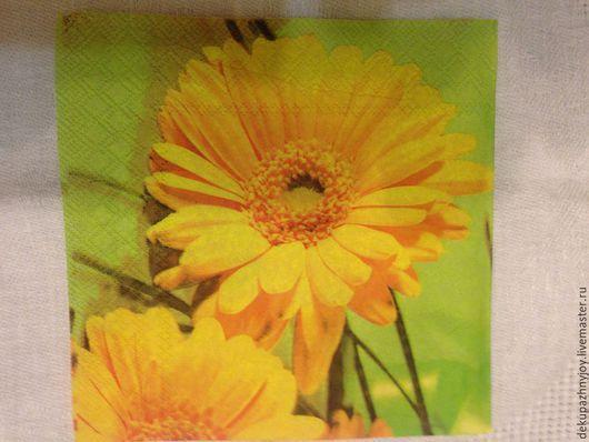 Цветы крупные желтые - №4 Декупажная радость