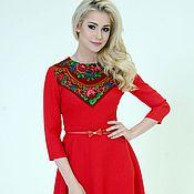 Одежда handmade. Livemaster - original item Dress red dress short. Handmade.