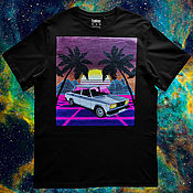 Мужская одежда handmade. Livemaster - original item Hand-painted T-shirt