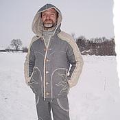 """Одежда ручной работы. Ярмарка Мастеров - ручная работа Костюм мужской льняной тёплый """"АуРа"""". Handmade."""