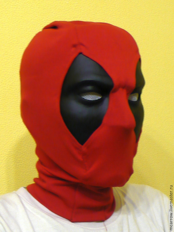 Как сделать маску из бумаги дедпул 50