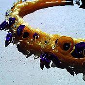 Украшения ручной работы. Ярмарка Мастеров - ручная работа колье Солнышко в руках. Handmade.
