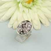 handmade. Livemaster - original item Ring with astrophyllite. Silver. Handmade.