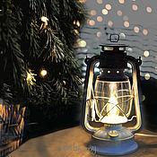 Настольные лампы ручной работы. Ярмарка Мастеров - ручная работа Керосиновая лампа электрическая белая настольная керосинка ретро лофт. Handmade.