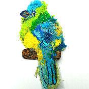 Украшения handmade. Livemaster - original item Brooch-pin: Multicolored bird. Hand embroidery.. Handmade.