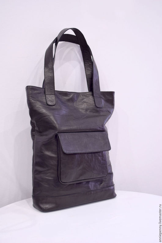 Женские сумки ручной работы. Ярмарка Мастеров - ручная работа. Купить сумка-шоппер. Handmade. Черный, натуральная кожа